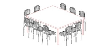 3D Table & chairs